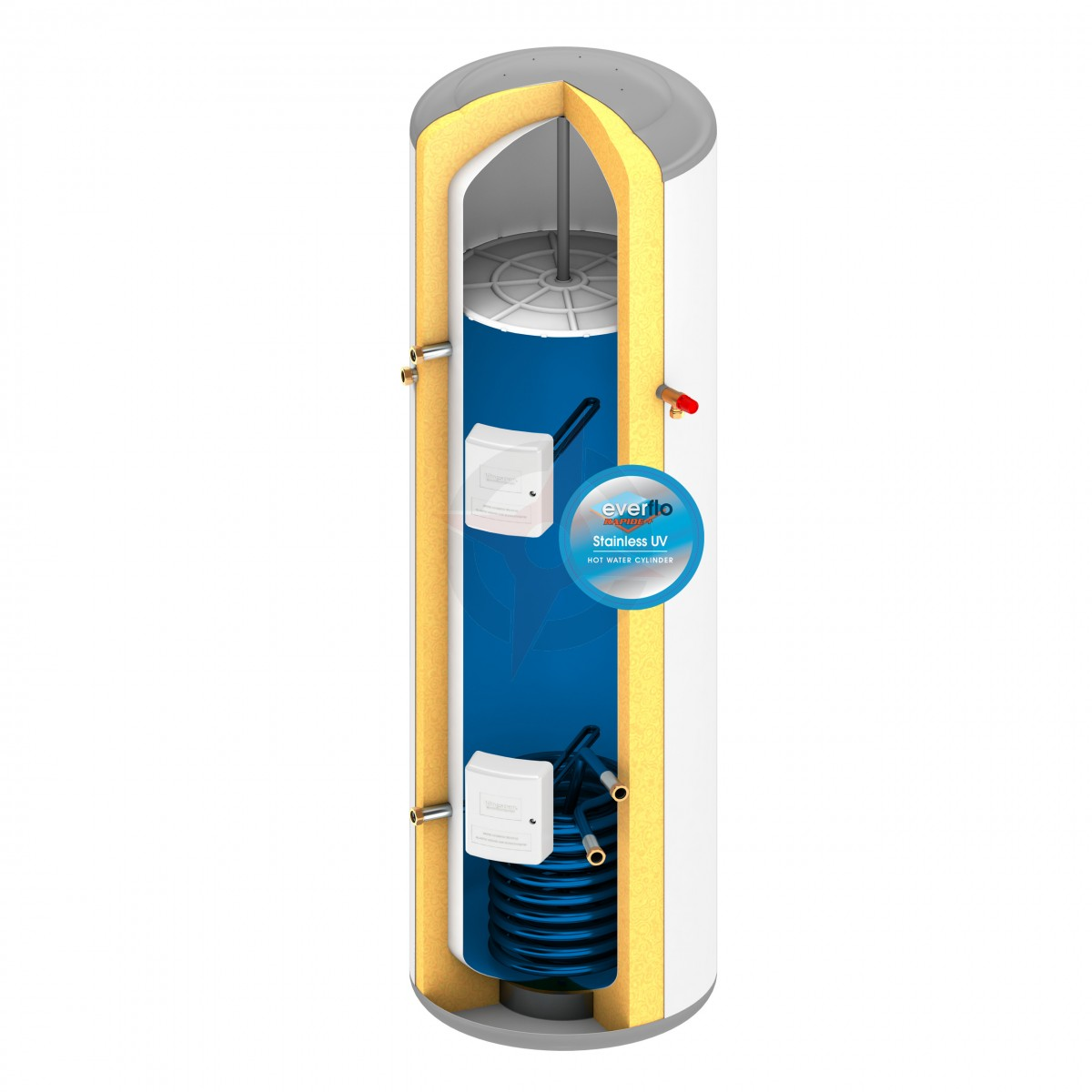 everflo Rapide+ 300L Indirect Unvented Hot Water Storage Cylinder ...