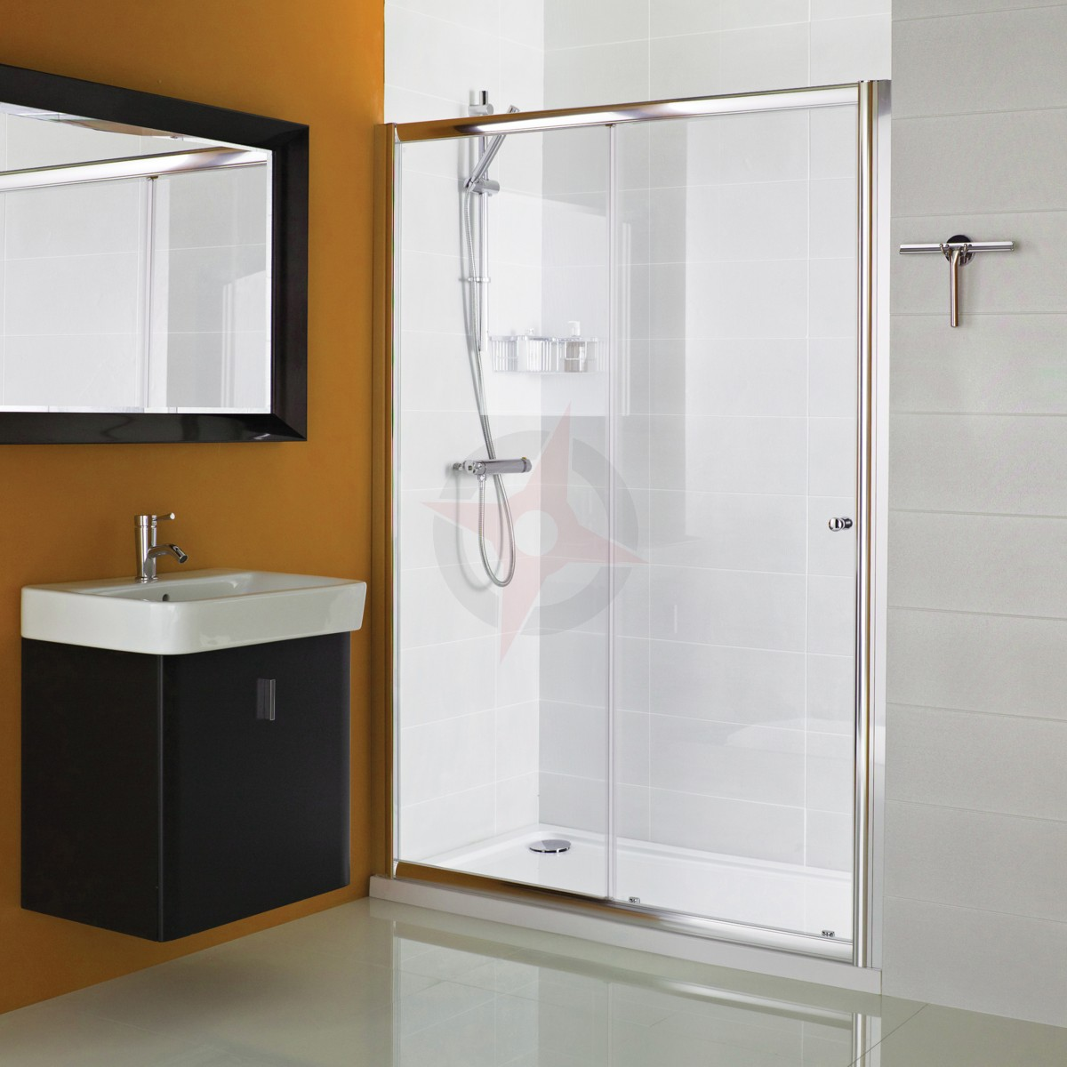 Haven Plus H3 1200mm Sliding Shower Door By Roman Showers