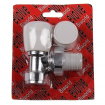 Evolve Double Packing Gland PTFE Tail 15mm Angled Wheel Head Valve