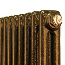 900H x 398W 2 Column Vertical Hammered Gold Radiator