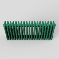 450H x 904W 4 Column Horizontal Turquoise Green Radiator