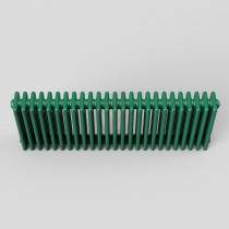 450H x 1180W 4 Column Horizontal Turquoise Green Radiator