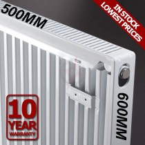 Revive 600h x 500l Single Premium Radiator (K1)