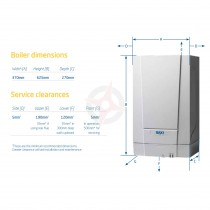 Baxi 430 (ErP) Heat Only Boiler, Easy Pick Pack