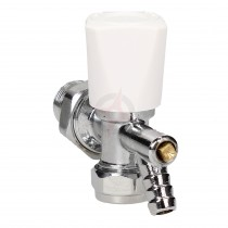 Evolve 15mm Angled Wheel Head Valve c/w Drain Off