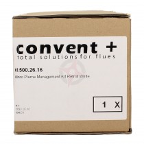 CLEARANCE - Convent+ Retro-Fit White Plume Management Kit (60mm)