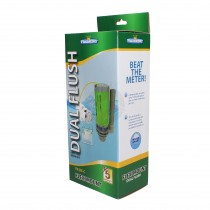 FlushKING Flexi Mount, Push Button Dual Flush Valve (1.1/2