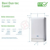 Baxi Duo-Tec 24 (ErP) Combi Boiler, Easy Pick Pack