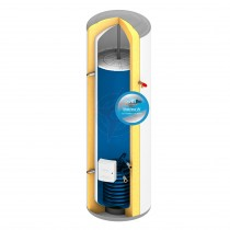 everflo Rapide+ 180L Indirect Unvented Hot Water Storage Cylinder & Kit
