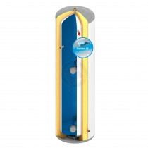 everflo Stainless 210L Slim-Fit Direct Unvented Hot Water Storage Cylinder & Kit