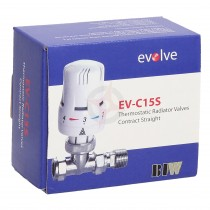 Evolve Contract 15mm Straight Chrome/White TRV
