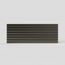 Slat 600H x 1600W Double Flat Panel Raw Metal Horizontal Radiator