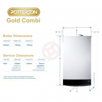 Potterton Gold 28 LPG (ErP) Combi Boiler, Easy Pick Pack