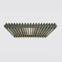 450H x 1502W 4 Column Horizontal Grey Aluminium Radiator