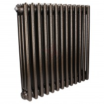 600H x 628W 4 Column Horizontal Hammered Gold Radiator