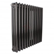 600H x 628W 3 Column Horizontal Hammered Volcanic Radiator