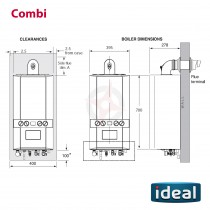 Ideal Independent+ (Plus Model) C35 (ErP) Combi Boiler Only (with Built-in Clock)