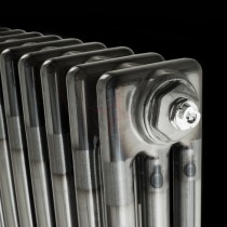 300H x 904W 3 Column Horizontal Raw Metal Lacquered Radiator