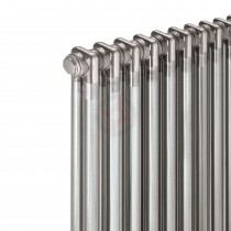 1800H x 490W 2 Column Vertical Raw Metal Lacquered Radiator