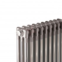 600H x 1686W 3 Column Horizontal Raw Metal Lacquered Radiator