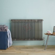 600H x 628W 4 Column Horizontal Raw Metal Lacquered Radiator