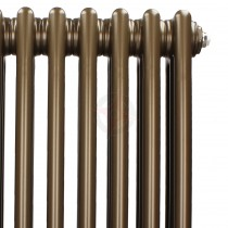 1200H x 398W 2 Column Vertical Retro Bronze Radiator