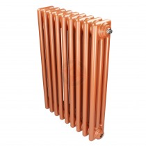 600H x 1686W 3 Column Horizontal Rose Gold Radiator