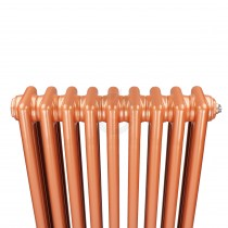 1200H x 398W 2 Column Vertical Rose Gold Radiator