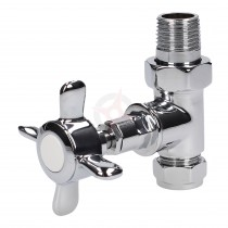 Evolve Cross Head 15mm Chrome Straight Wheel Head Valve