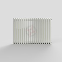 600H x 904W 3 Column Horizontal White Radiator
