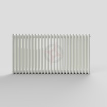 600H x 1180W 3 Column Horizontal White Radiator