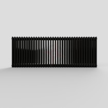 600H x 1686W 3 Column Horizontal Express Jet Black Radiator