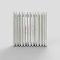 600H x 628W 4 Column Horizontal White Radiator