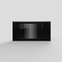 450H x 1686W 4 Column Horizontal Jet Black Radiator