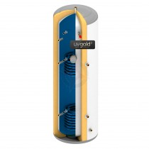 uvgold2 180L Twin Coil Unvented Hot Water Storage Cylinder & Kit