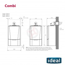 Ideal Vogue C40 GEN2 (ErP) Combi Boiler Only