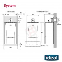 Ideal Vogue S26 GEN2 (ErP) System Boiler Only