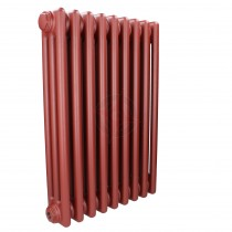 600H x 1686W 3 Column Horizontal Volcanic Sunset Red Radiator