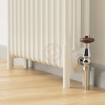 Pair of White Adjustable Column Radiator Feet (For 5 and 6 Column Rads)