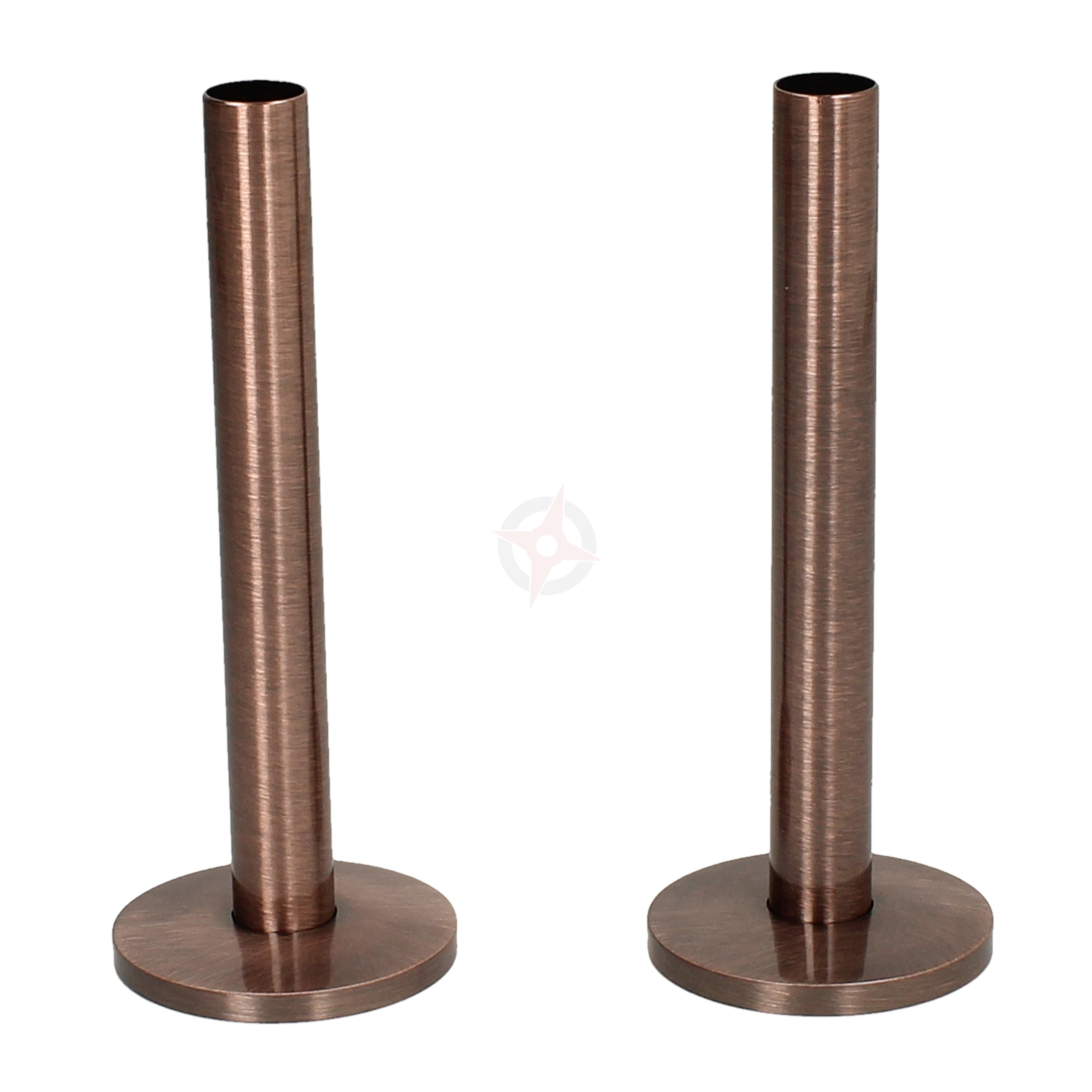 Antique Copper 15mm x 130mm Pipe Tails and Decoration Floor Plates (Pair)