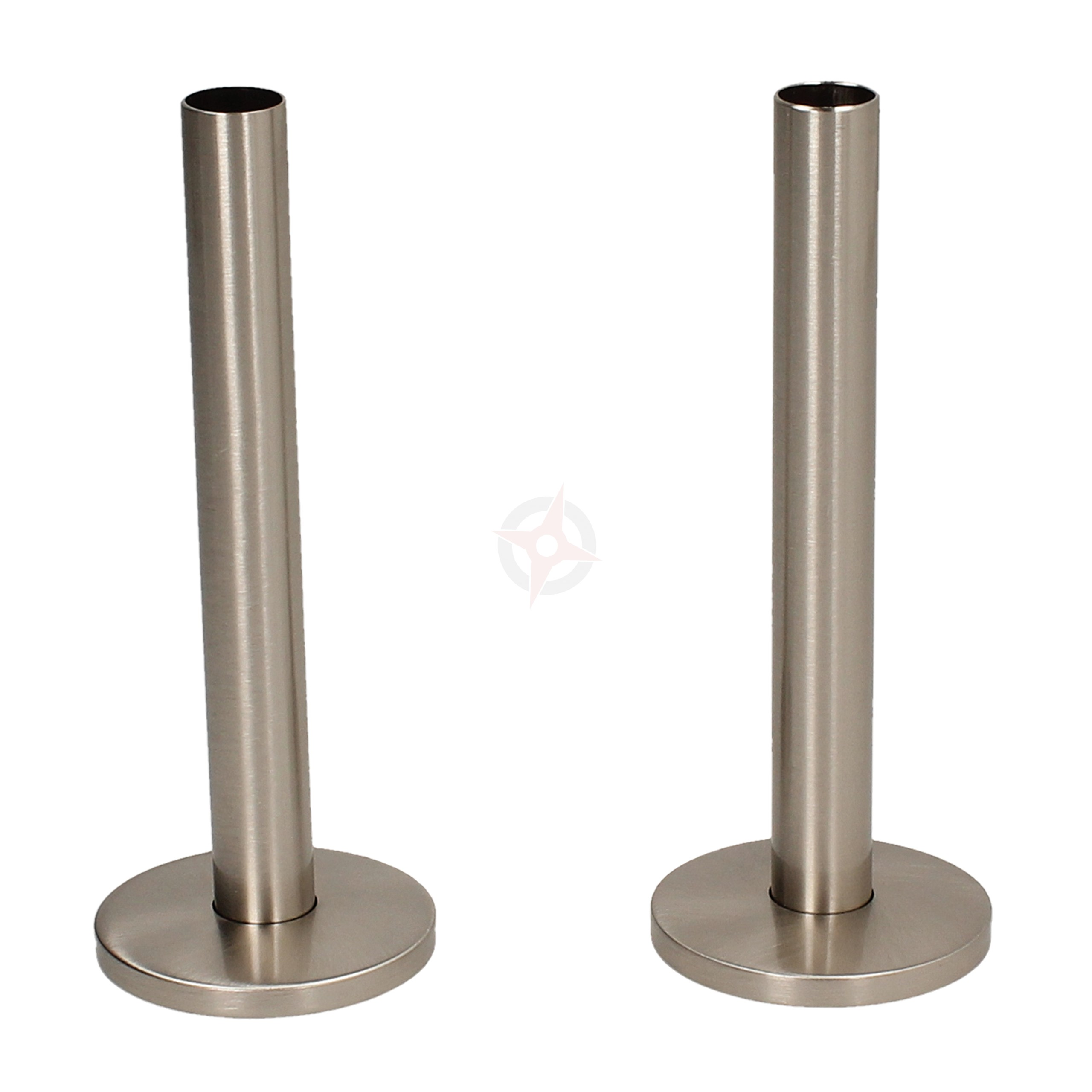 Silver Nickel 15mm x 130mm Pipe Tails and Decoration Floor Plates (Pair)