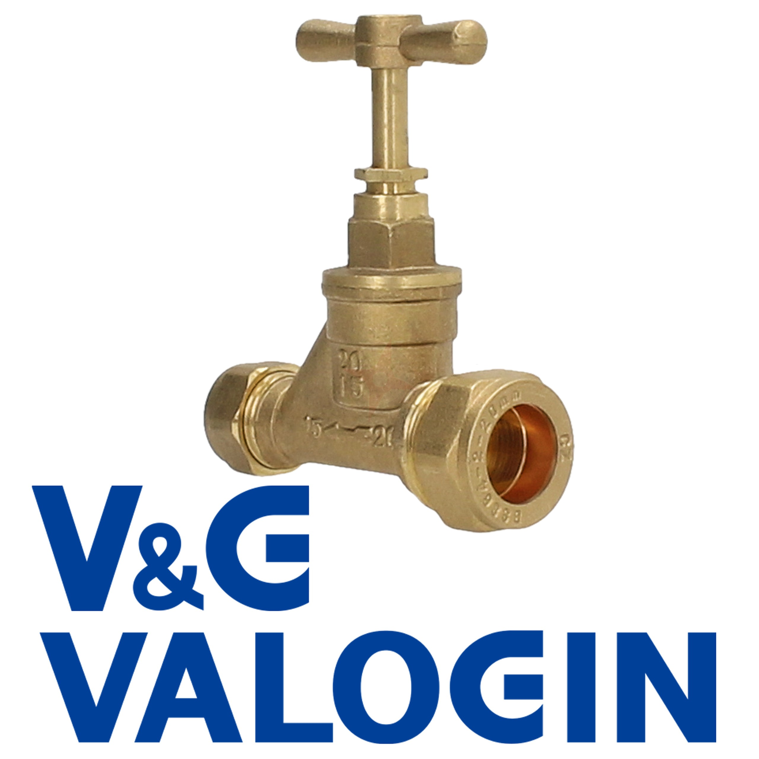 V&G 20mm x 15mm Compression Stopcock (Poly x Copper)