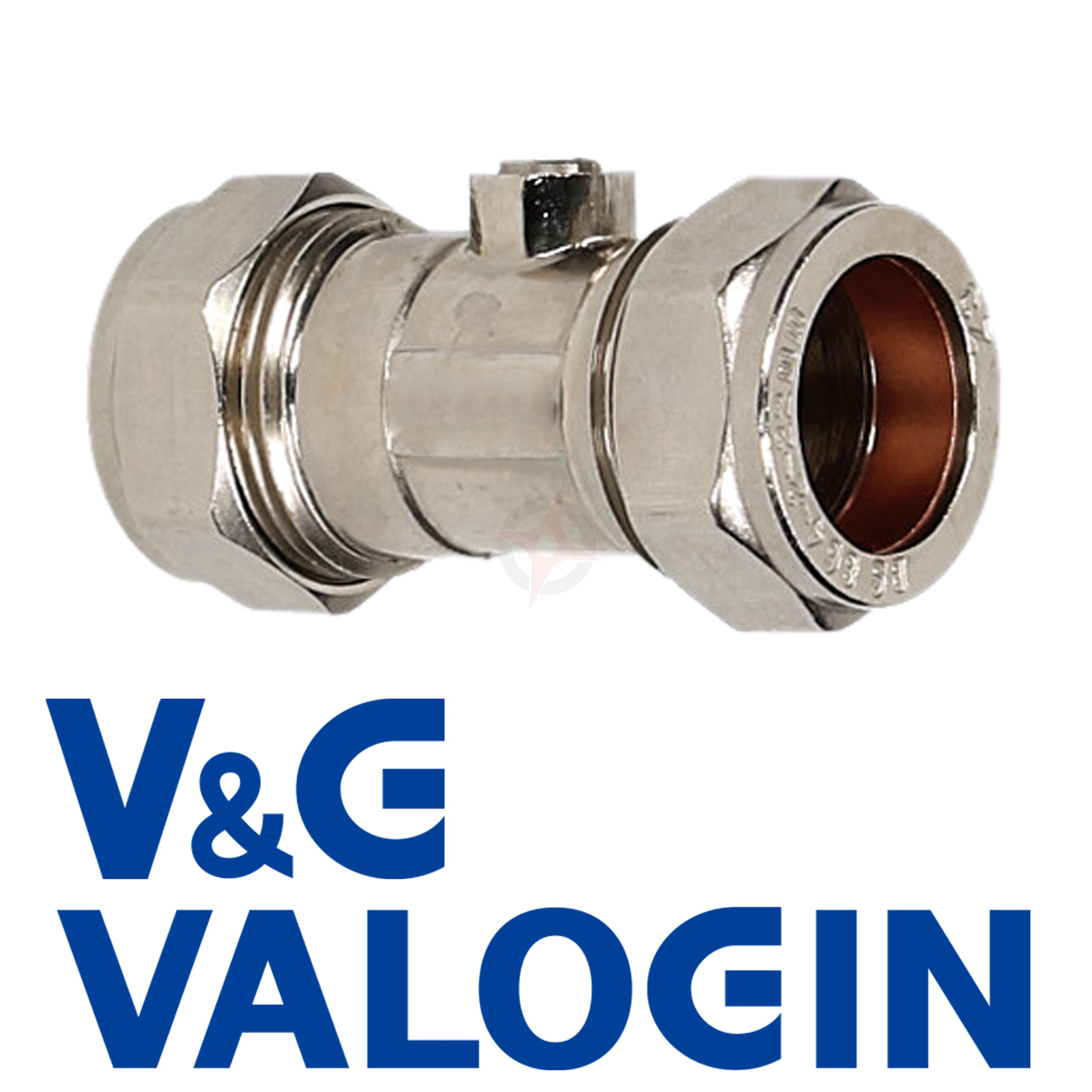 V&G Compression 22mm Chrome Isolation Valve