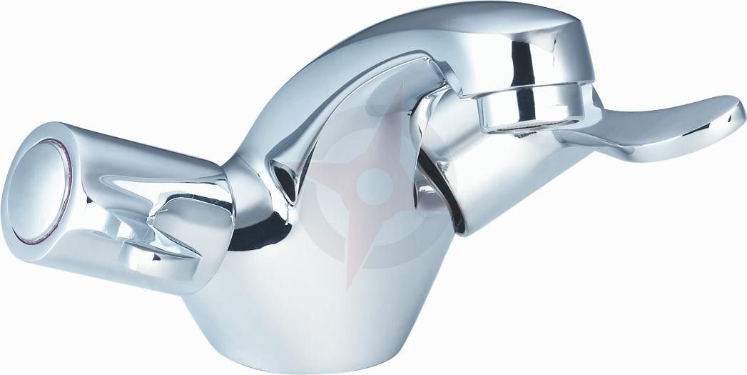 Lavata Modern Monobloc Basin Mixer c/w Pop Up Waste