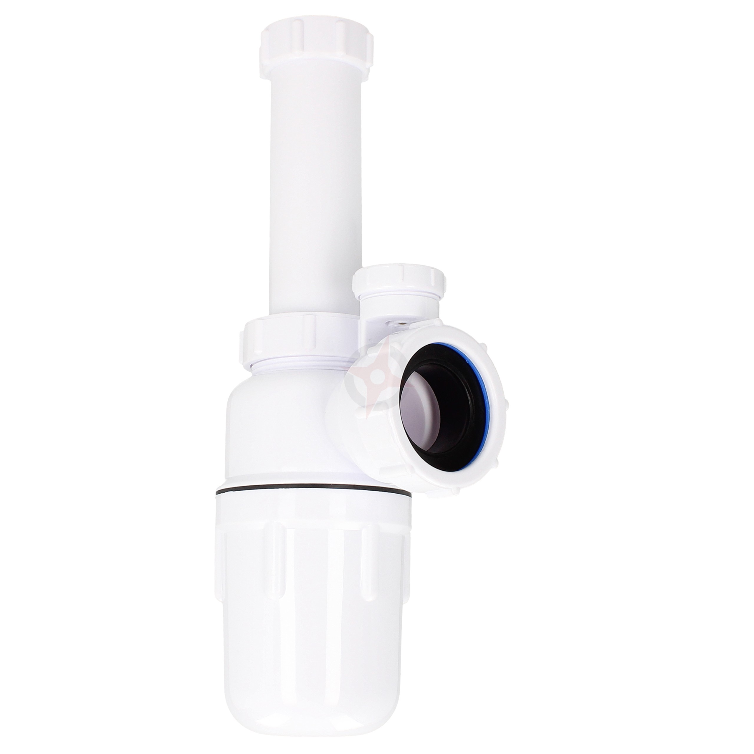 """Kimsion 1.1/4"""" Plastic Anti-Siphonic Bottle Trap with 6"""" Telescope"""