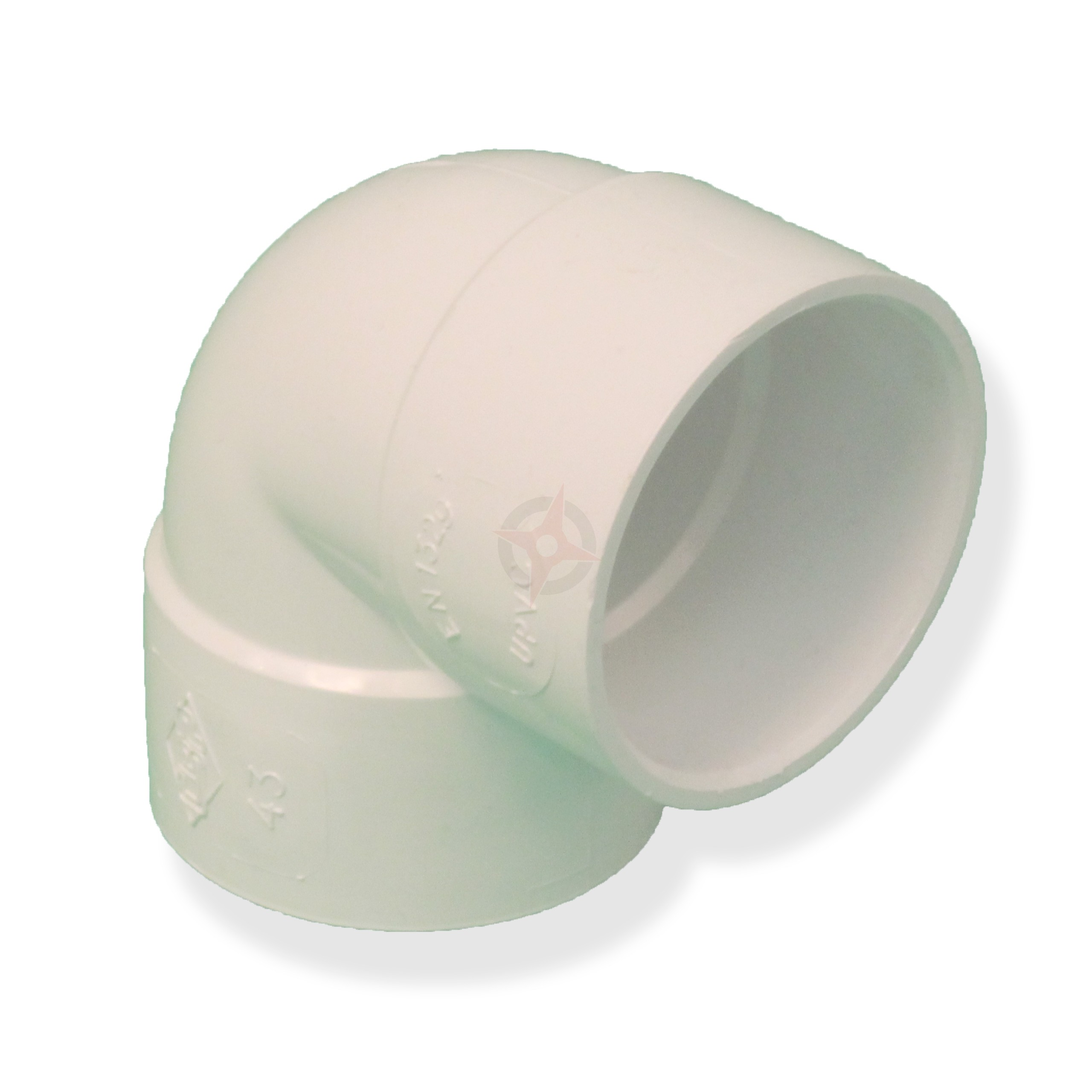 White 36mm Solvent Waste 90 Degree Knuckle Bend