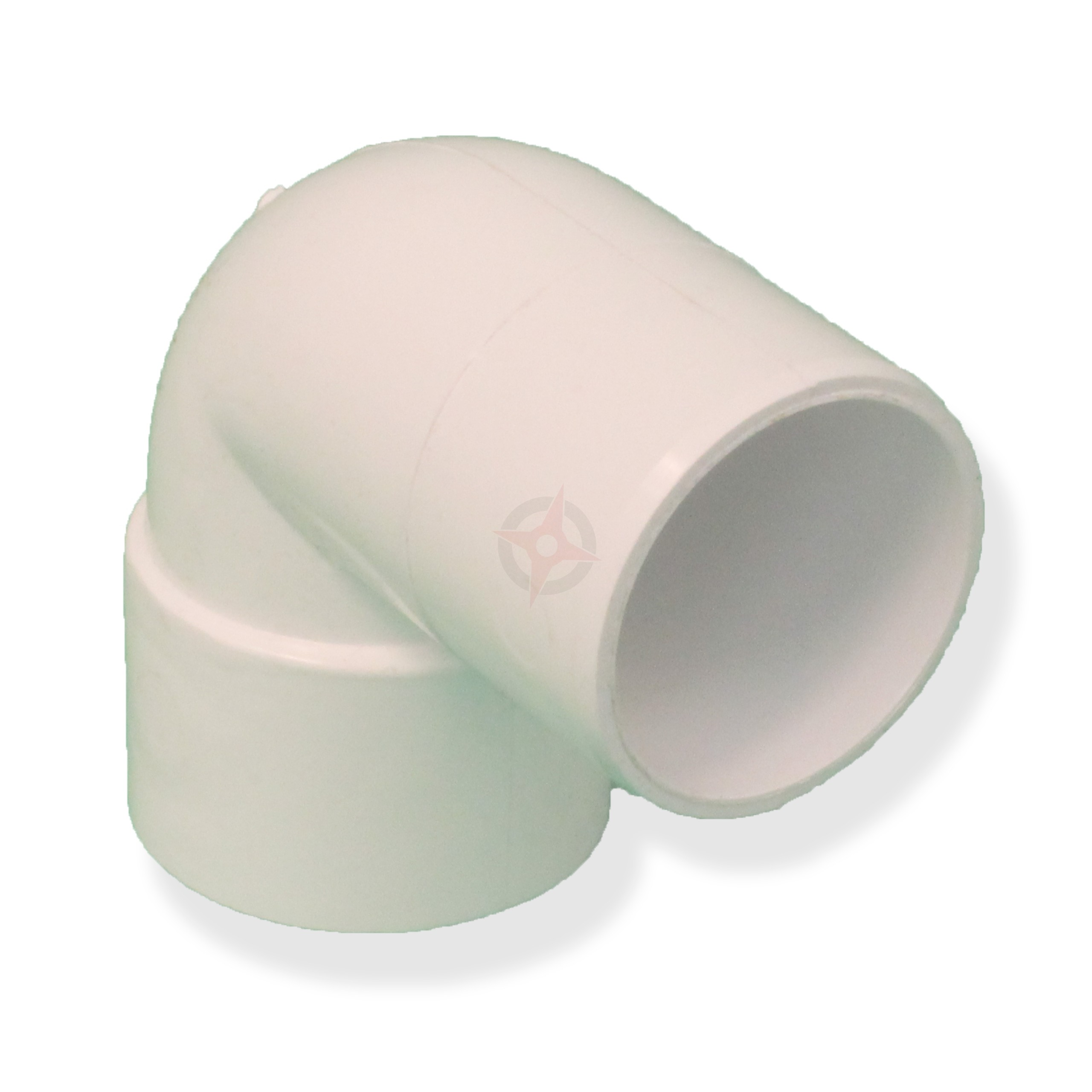 White 36mm Solvent Waste 90 Degree Spigot Bend
