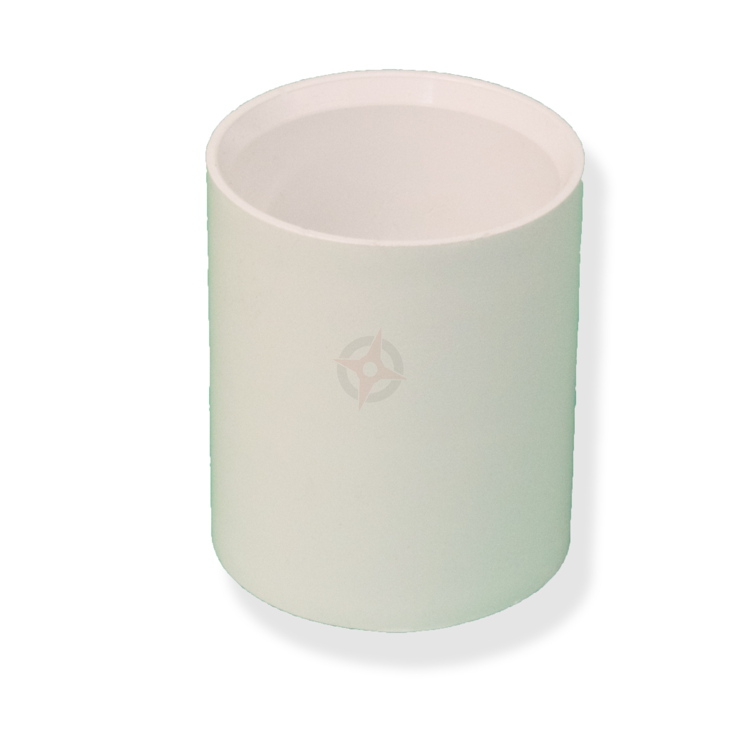 White 43mm Solvent Waste Straight Coupler