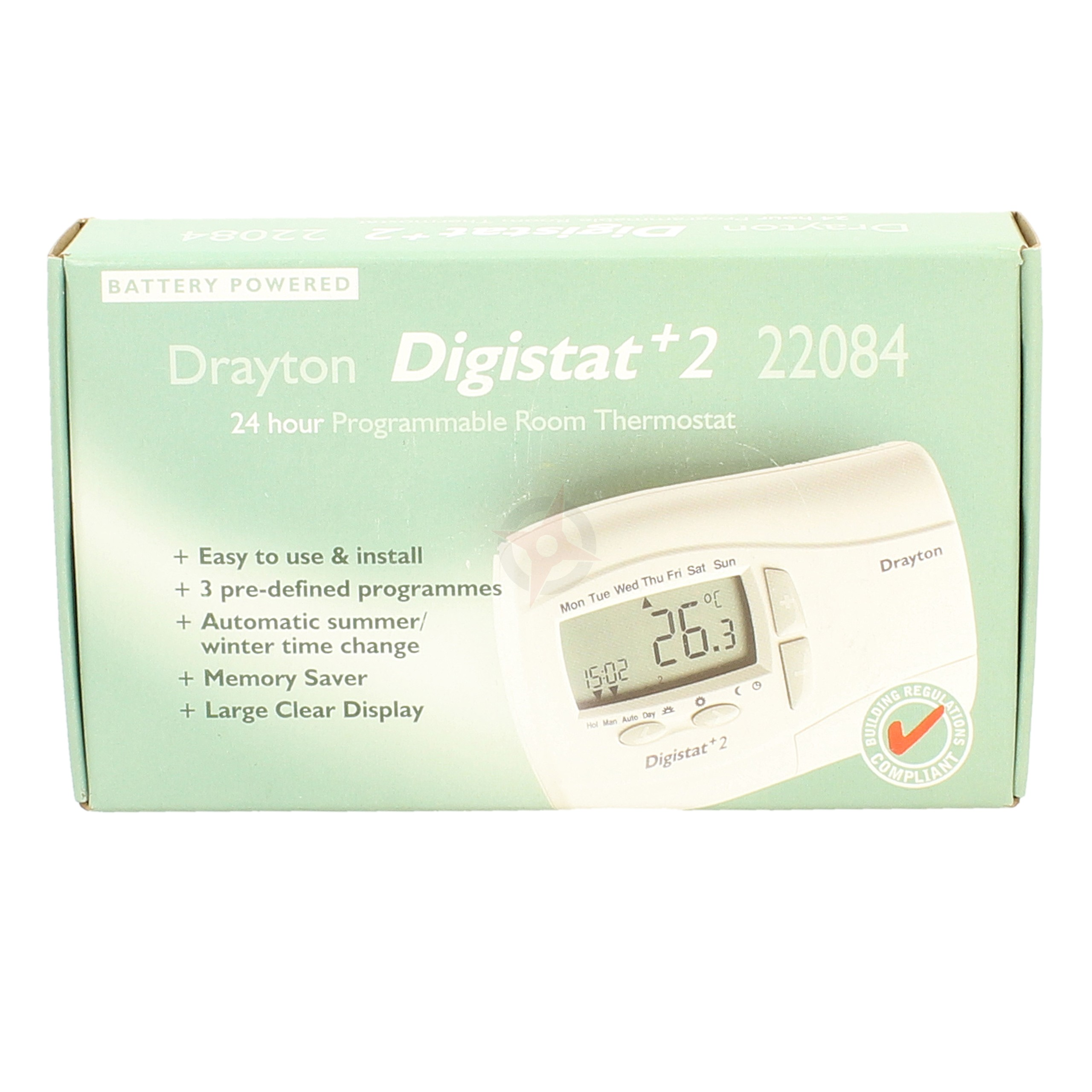 Drayton 24 Hour Programmable Room Stat Digistat+2