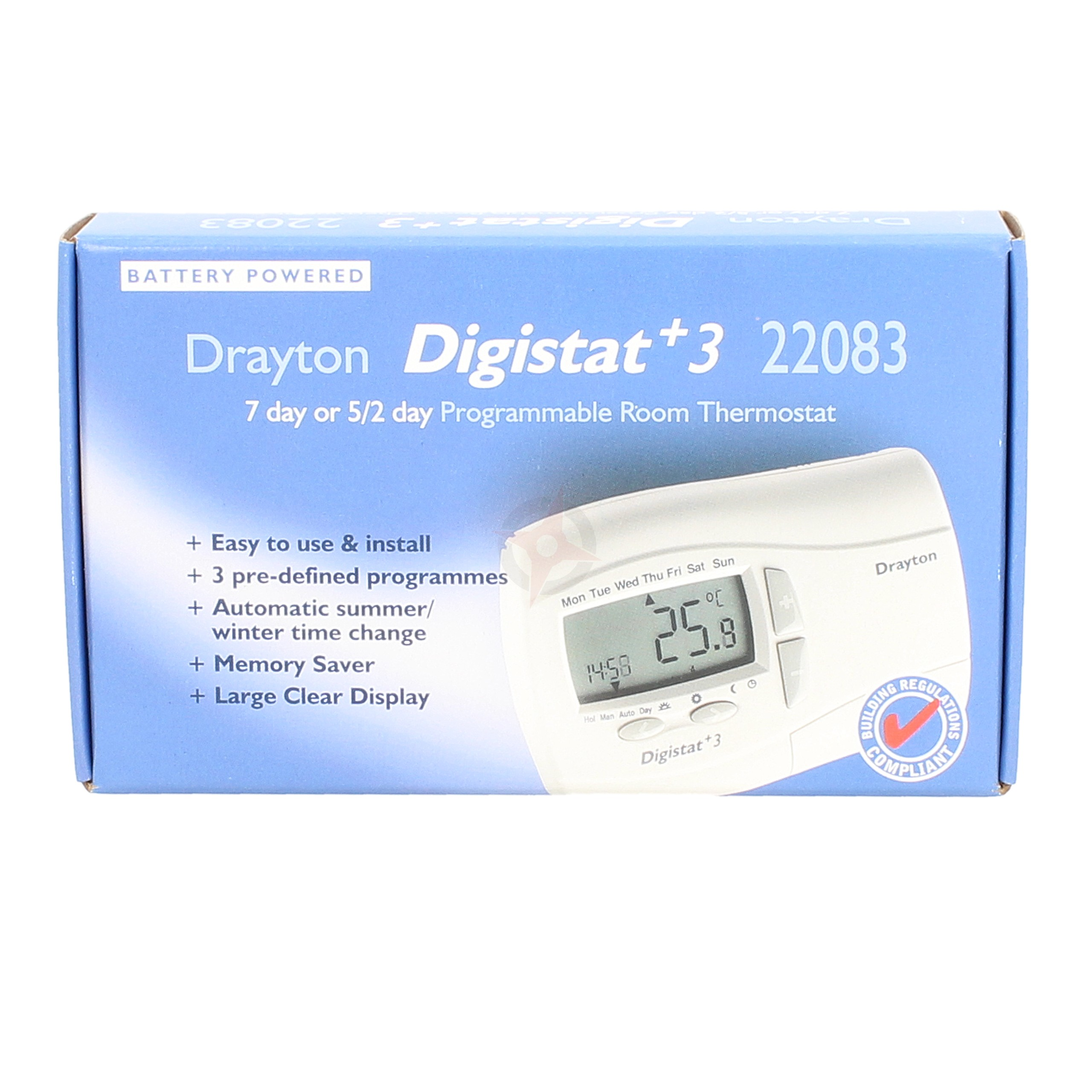 Drayton 7 Day Programmable Room Stat Digistat+3